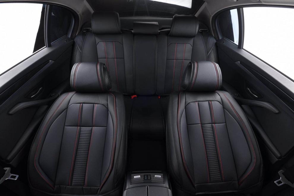 Лукс Комплект Черна Кожена универсална тапицерия / калъфи за седалки