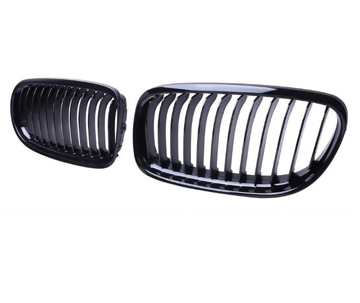 Бъбреци Решетки За БМВ BMW Е90 Е91 08-11 Черен Гланц Фейслифт Facelift