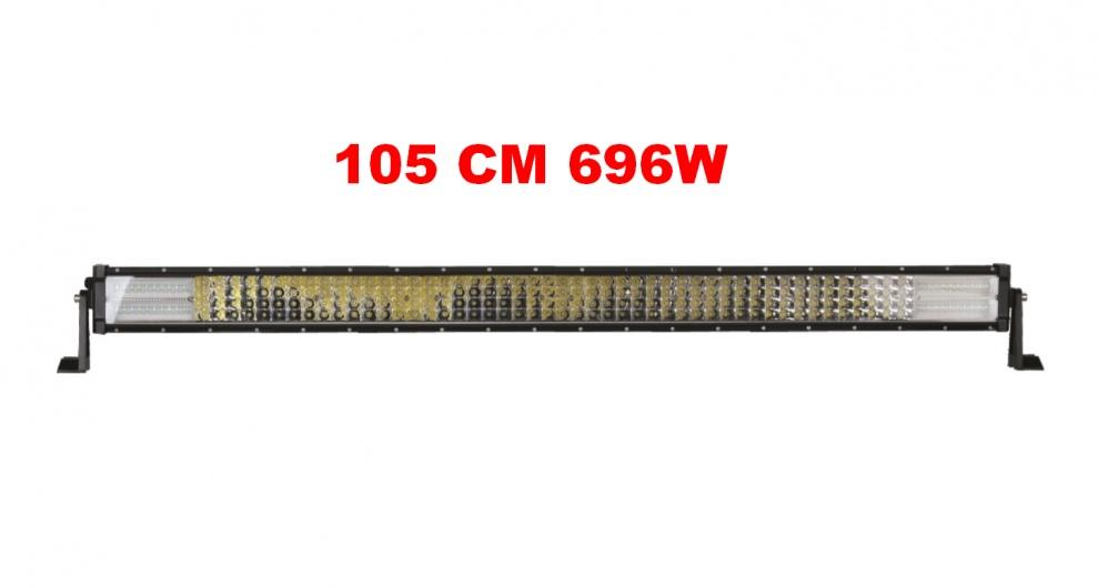 105 См 696W Мощен 7D 7Д Led Bar Лед Диоден Бар Прожектор 12V 24V 4 Редов