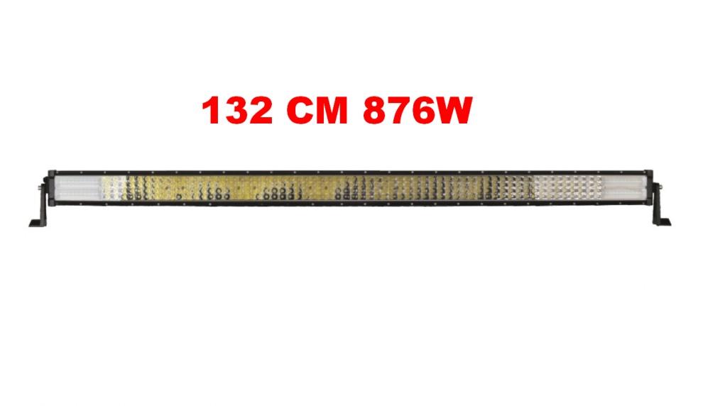 132 См 876W Мощен 7D 7Д Led Bar Лед Диоден Бар Прожектор 12V 24V 4 Редов