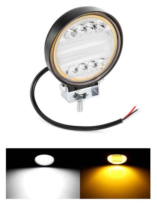 72W LED Диоден Фар Работна Бяла Жълта Светлина Габарит Мъгла Лампа 12V 24V 3100 Лумена
