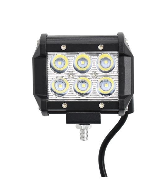 6 LED 18W Халогени Водоустойчиви Светлини Работни Лампи Flexzon 10-30V за Ролбар АТВ, Джип