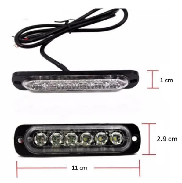 6 LED Аварийна Лампа За Пътна Помощ, Жълта Блиц Светлина, Мигаща!