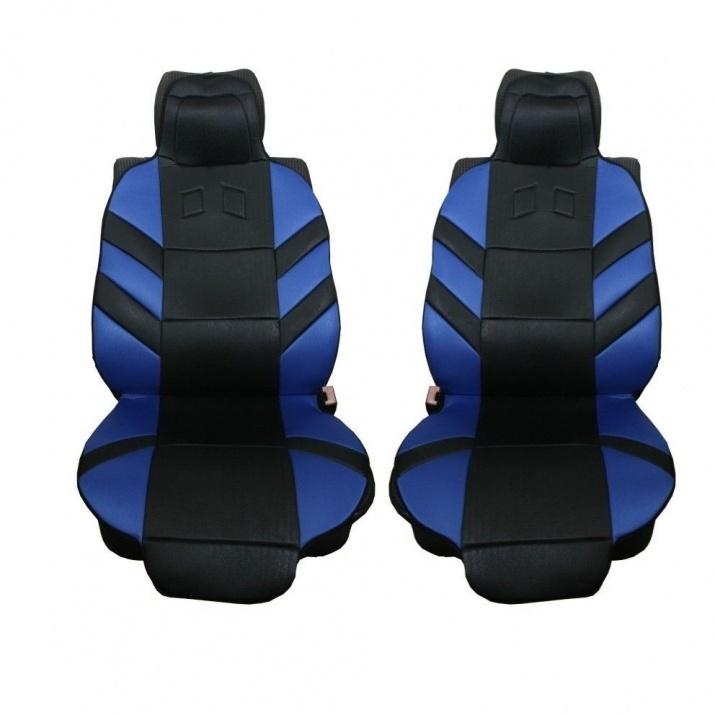 Универсални калъфи тапицерия за предни седалки масажор, сини