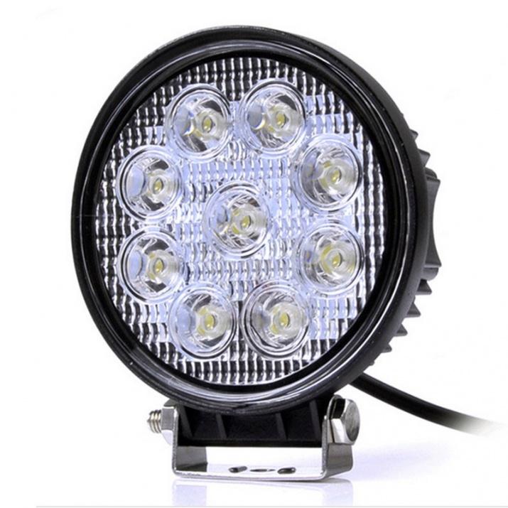 9 LED Халогени Светлини Работни Лампи 10-30V за Ролбар АТВ, Джип