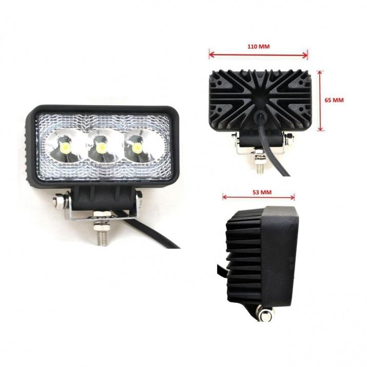 3 LED Халогени Светлини Работни Лампи 10-30V за Ролбар АТВ, Джип