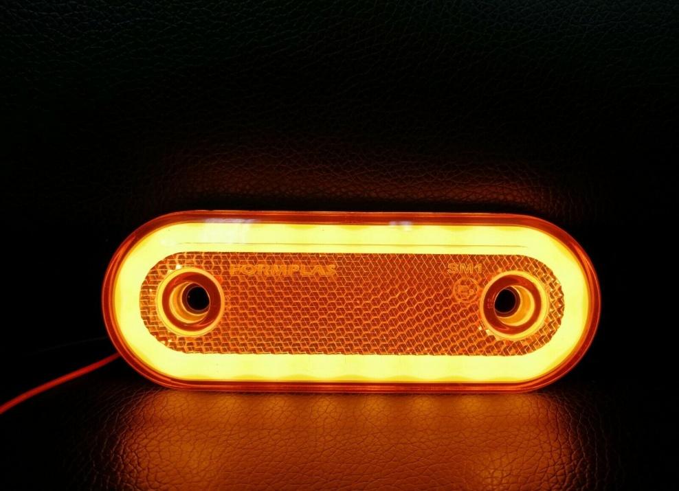 LED Диоден Габарит, Бял, Червен, Жълт, Маркер, Е-Mark, Неон Ефект, 12V-24V LED Диоден Габарит, Жълт, Маркер, Е-Mark, Неон Ефект, 12V-24V