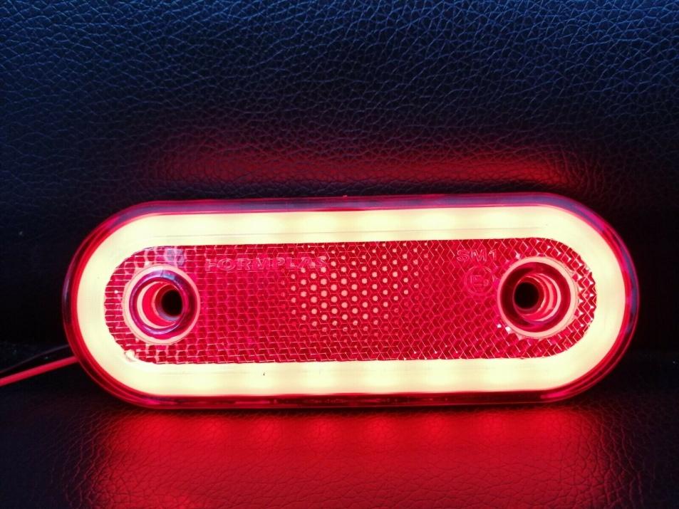 LED Диоден Габарит, Бял, Червен, Жълт, Маркер, Е-Mark, Неон Ефект, 12V-24V LED Диоден Габарит, Червен, Маркер, Е-Mark, Неон Ефект, 12V-24V