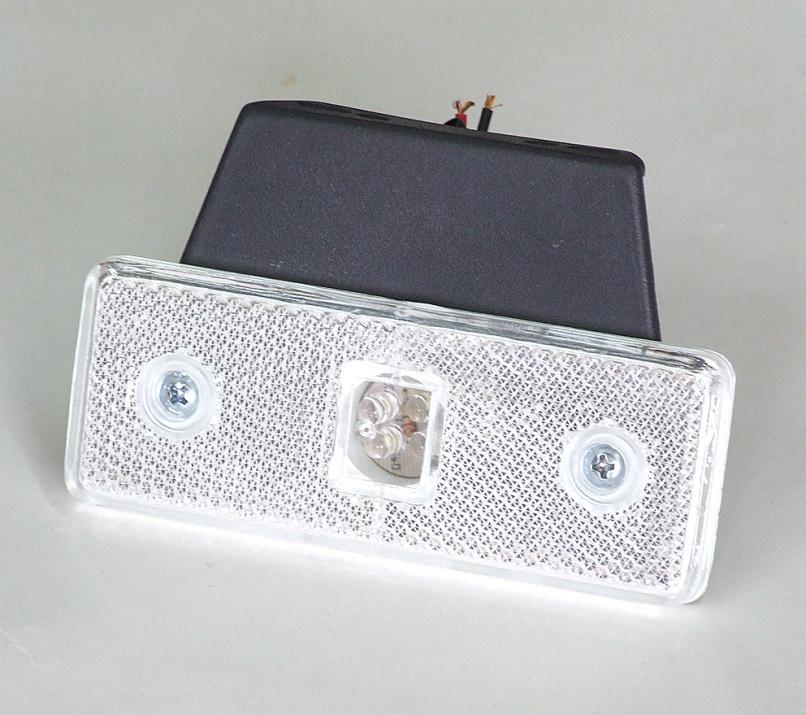 Бял LED габарит, маркер 12V