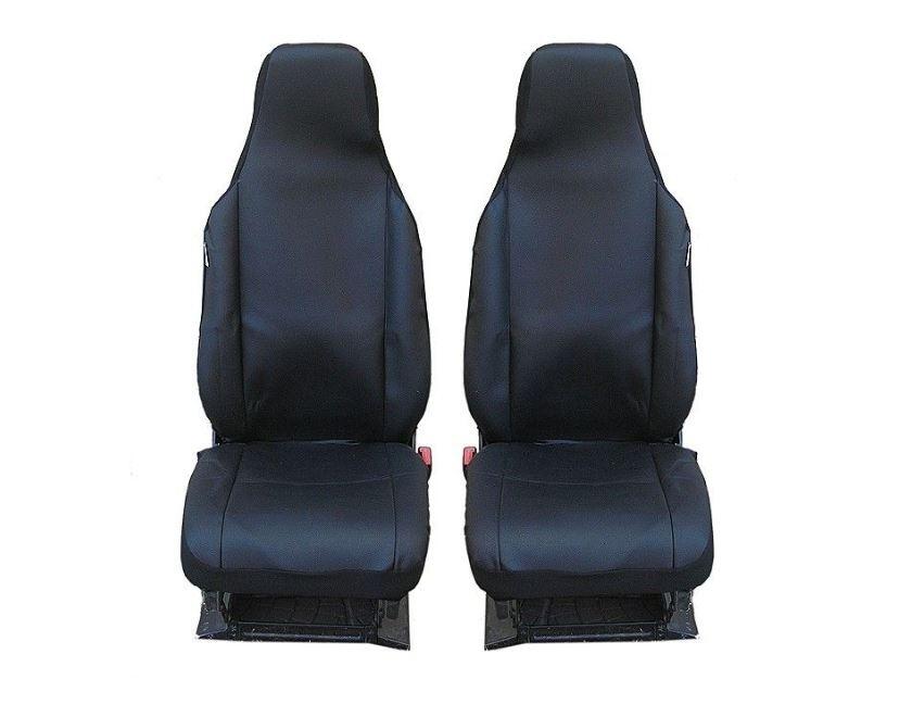 Универсални калъфи тапицерия за предни седалки bg7, черни със слят подглавник