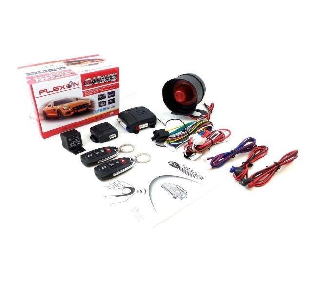 Универсална алармена система с дистанционно централно заключване с 2 дистанционни (RT7) Универсална алармена система имобилайзер, централно заключване и шок сензор (RT10)