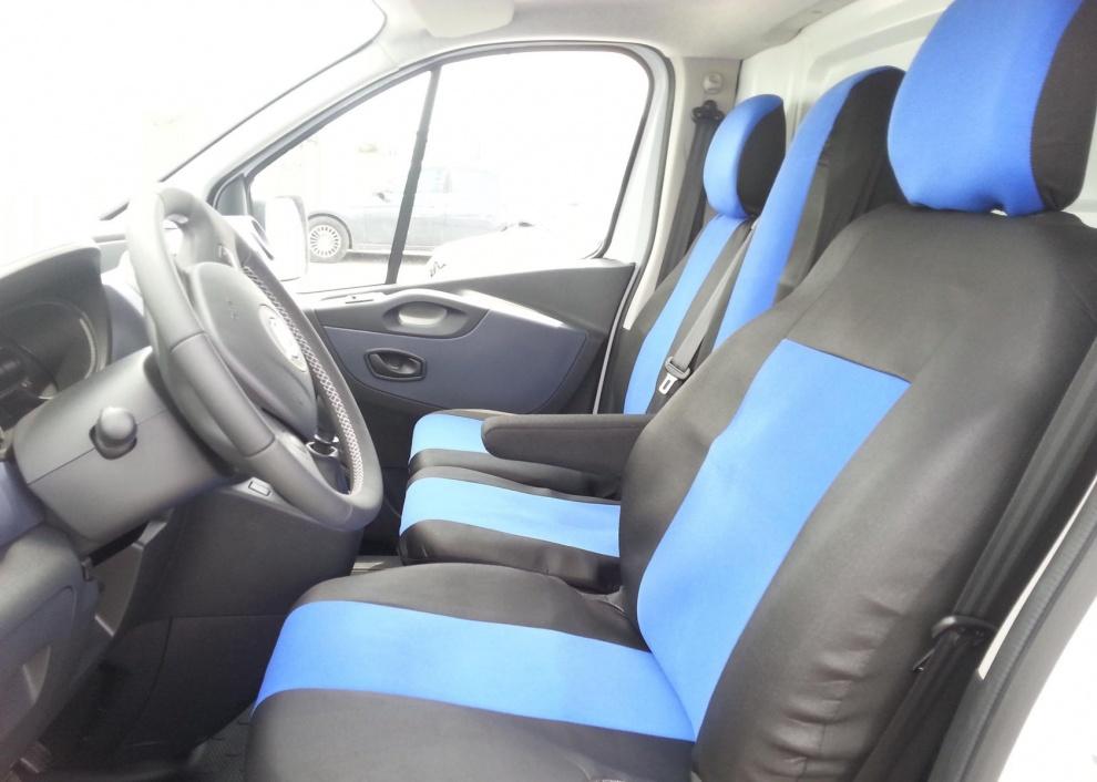 2+1 Калъфи тапицерия за предни седалки за Опел Виваро Opel Vivaro Рено Трафик Renault Trafic 2014+
