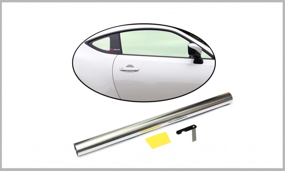 76 СМ X 3 Метра Огледално, Сребърно Авто Фолио за затъмняване на стъкла, прозорци