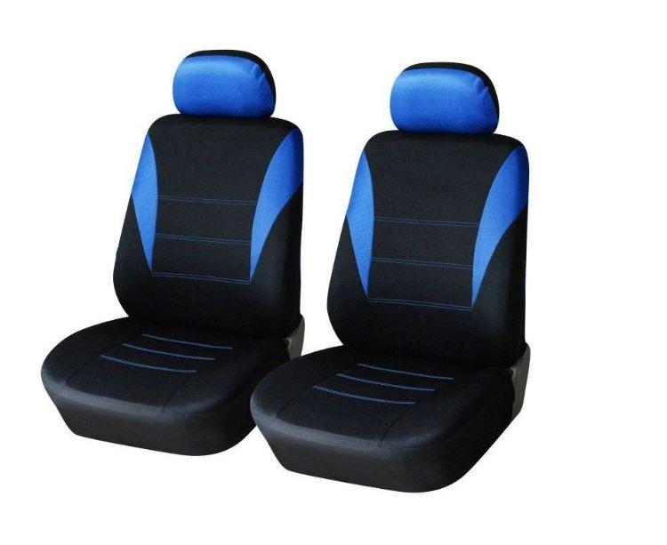 1+1 Универсална синя тапицерия (калъфи)  за предни седалки
