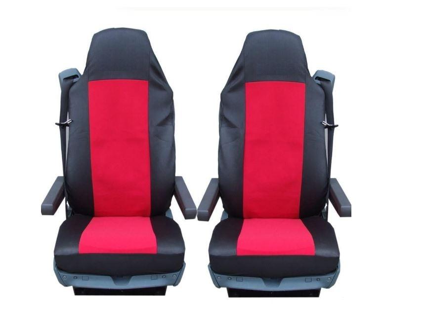 1+1 Тапицерия (калъфи) за седалки за камиони DAF, червени