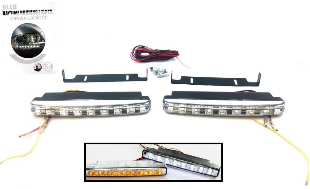 К-кт DRL LED дневни светлини с мигач 12V