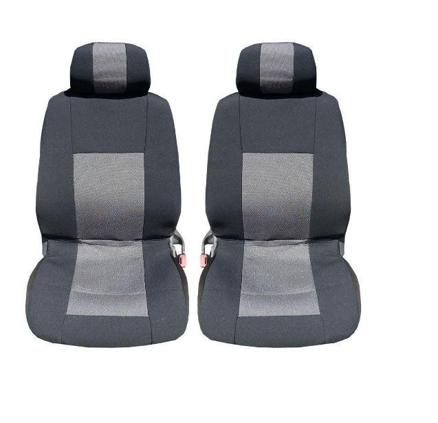 1+1 Лукс калъфи/тапицерия за предни седалки, Универсални, Сиви