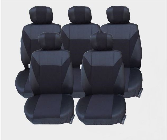 Калъфи/тапицерия за Ford S-MAX C-MAX, VW Touran, Sharan, Toyota Corolla Verso, Черни