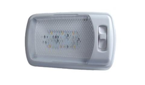 Универсална БЯЛА LED интериорна лампа - подходяща за каравана, кемпер, бус и друг вид интериорно ползване на 12V