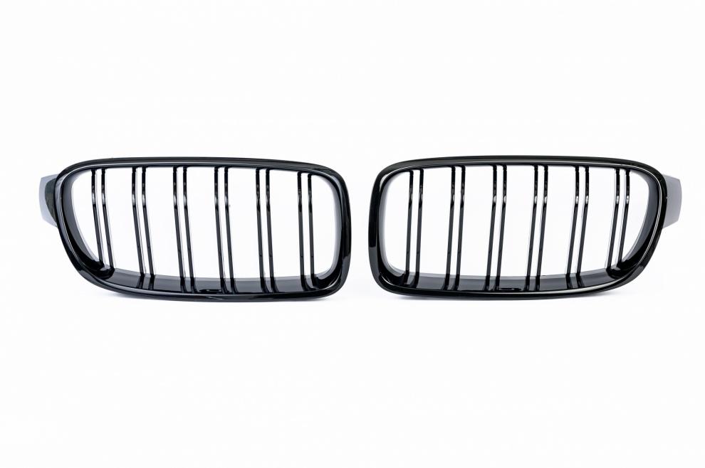 Бъбреци Решетки За БМВ BMW F30 F31 Черен Гланц Лак М3 Тип След 2012