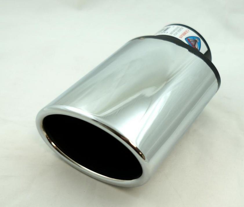 Универсален накрайник за ауспух на автомобил, 38-57мм, Дължина 14.3 см, Хром