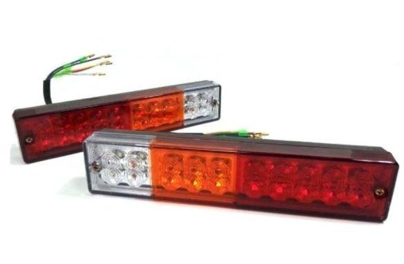 Комплект LED стопове мигач задна светлина 12v 24v за камион бус ТИР, ремарке