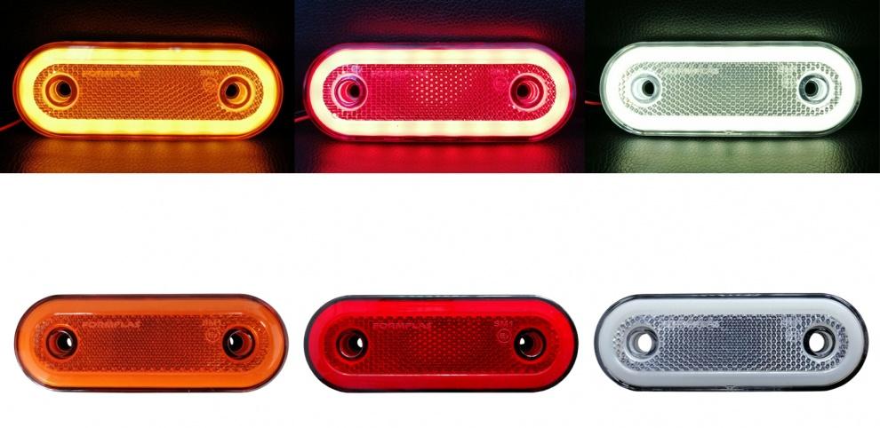 LED Диоден Габарит, Бял, Червен, Жълт, Маркер, Е-Mark, Неон Ефект, 12V-24V