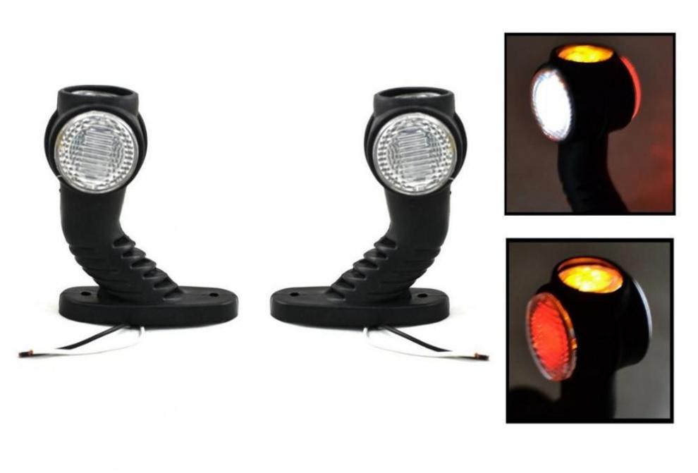 2бр Комплект LED Лед габарити светлини тип рогче за камион ремарке тир бус 12V/24V