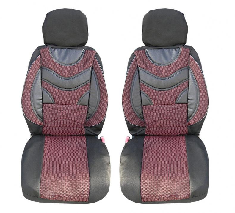 Луксзони калъфи тапицерия за седалки тип масажор с лумбална опора  Premium 1 - червено-черни