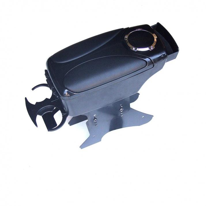 Подлакътник за автомобили  с поставка за чаша, Универсален, Черен