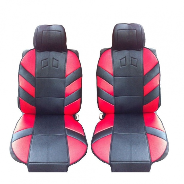 Универсални калъфи тапицерия за предни седалки flexzon масажор, Червени