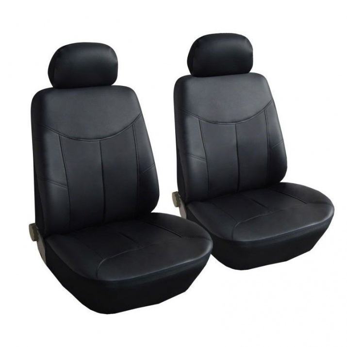 Универсални Калъфи/Тапицерия за предни седалки, Eко кожа, Черни