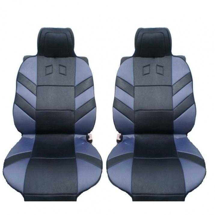 Универсални калъфи тапицерия за предни седалки Flexzon масажор, Сиви