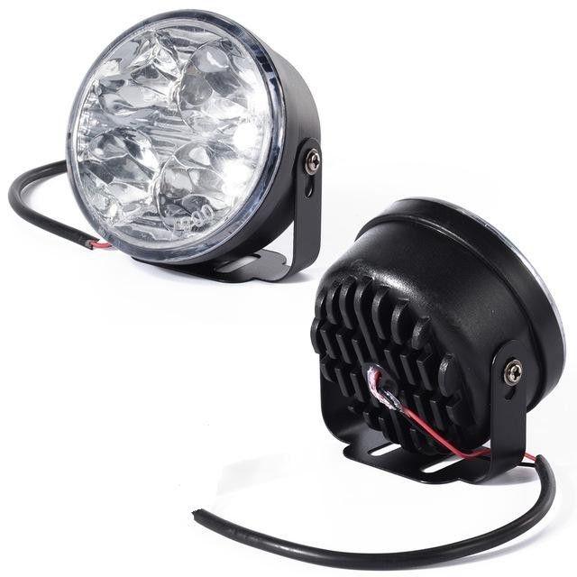 Комплект от кръгли дневни DRL LED светлни с 4 SMD диода, 2бр