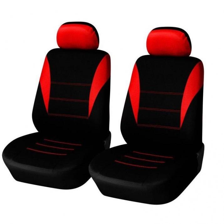 Универсална 1+1 червена тапицерия (калъфи) за предни седалки