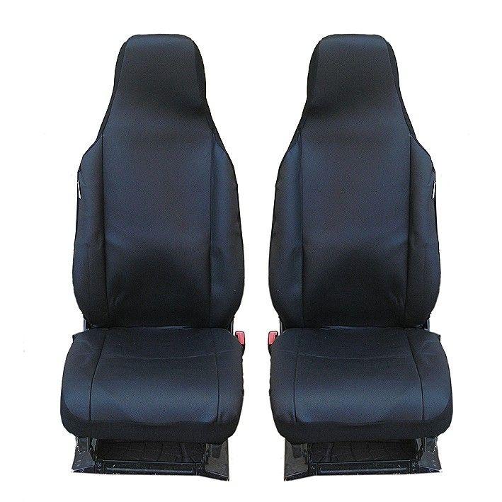 Калъфи за предни седалки Flexzon за Toyota Aygo, Citroen C1, Peugeot 107, Текстил, Черни