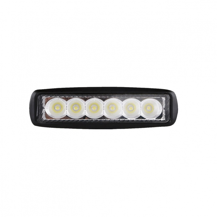 6 LED 18W Халогени Водоустойчиви Светлини Работни Лампи 10-30V за Ролбар АТВ, Джип
