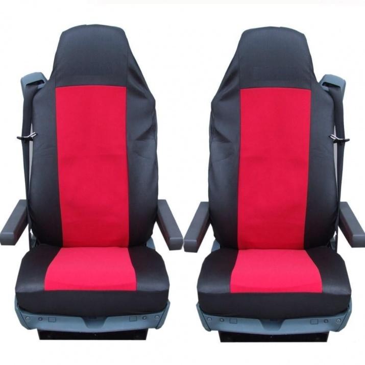 Калъф тапицерия за седалки за MAN GA,TGL,TGX,TGS, Червени