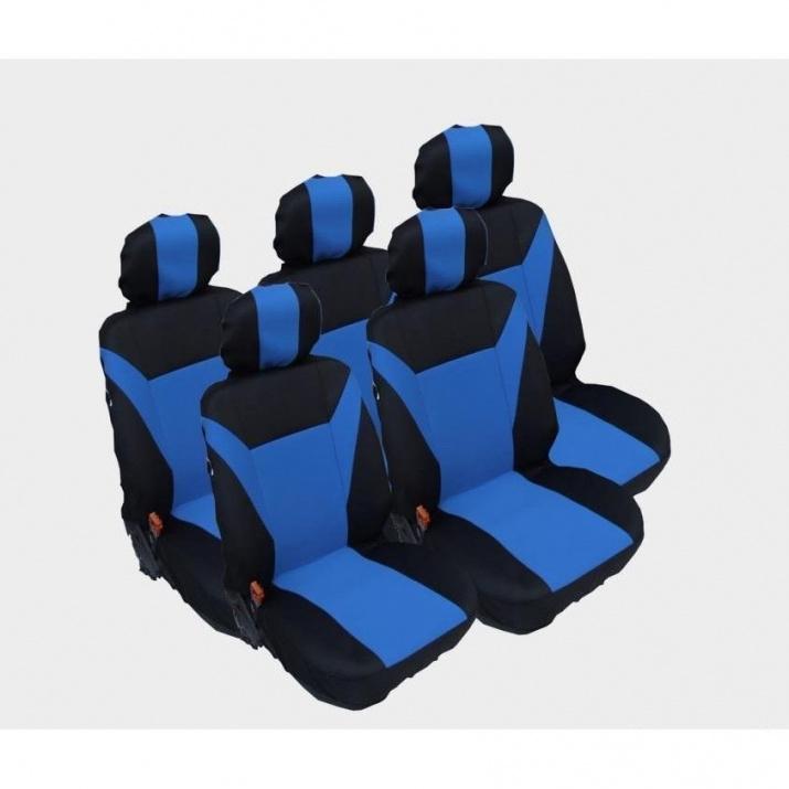 Калъфи/тапицерия за Ford S-MAX C-MAX, VW Touran, Sharan, Toyota Corolla Verso, Син цвят