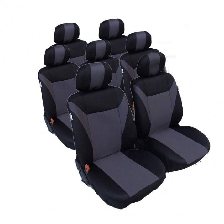 Калъфи/тапицерия за VW Touran, Sharan, Ford Galaxy, Citroen C8, Peugeot 307SW, Citroen C4 Grand Picasso, Peugeot 806, 807, Сив