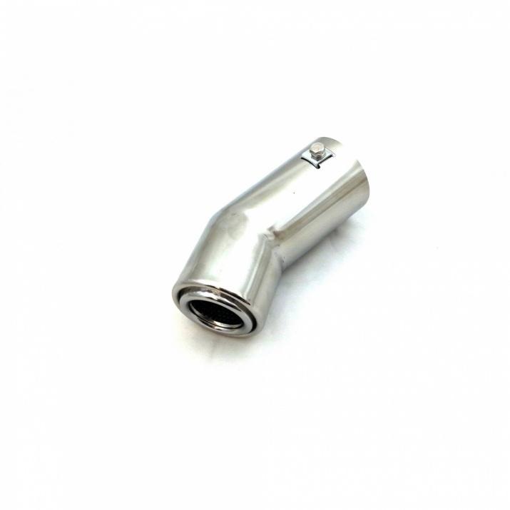 Универсален накрайник за ауспух, 50-60мм, Дължина 14см, Хром