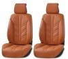 Лукс Универсална Кожена Тапицерия / Калъфи за предни седалки, оранжева