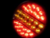 LED Диоден стоп тип хамбургер  24V ЧЕРВЕНО-БЕЛИ ЗАДНИ СТОП СВЕТЛИНИ