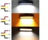 15.5 См 54W Мощен Лед Бар Led Халоген Лампа Прожектор с Мигач 12V 24V