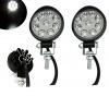 2 Броя Комплект Кръгли Мини Диоден Фар Прожектор Дневни Светлини Диодна Лампа Нови 27W