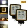 126W LED Диоден Фар Работна Бяла Жълта Светлина Габарит Мъгла Лампа 12V 24V 3030 Лумена