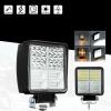 162W LED Диоден Фар Работна Бяла Жълта Светлина Габарит Мъгла Лампа 12V 24V