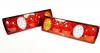 Комплект Диодни LED Лед стопове 12V - 410mm x 130mm x 60mm - подходящи за Бус Камион Тир Ремарке Караванa