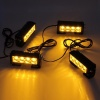 4 Led Аварийна Лампа, Жълта Блиц Светлина, Мигаща, 4 Броя с Контролер