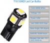 LED Лед Диодни Крушки За Габарит, Т10 W5W, 5 SMD, 12V, Бяла Светлина